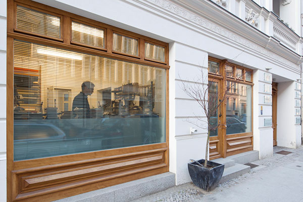Außenansicht der Buchbinder-Werkstatt in Berlin